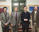 El jefe de Gobierno porteño, Mauricio Macri, y el ministro de Ambiente y Espacio Público, Edgardo Cenzón, junto a Diego Moreno y Héctor Laurence de Fundación Vida Silvestre Argentina.