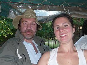 © Germán y Daniela, integrantes de Vida Silvestre en el Refugio de Vida Silvestre, La Aurora del Palmar.