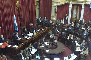 © En el Senado, en la aprobación del AMP Banco Namuncurá / Burdwood